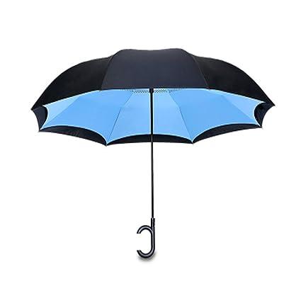 paraguas HuAma Automóvil Invertido Doble Invertido Sin Manos Automático Grande Estupendo del Coche Hombres Y Mujeres