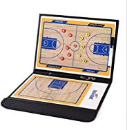 Basketball Coaching Board Coaches Clipboard Tactical Magnetic Board Kit with Dry Erase, Marker Pen and Zipper
