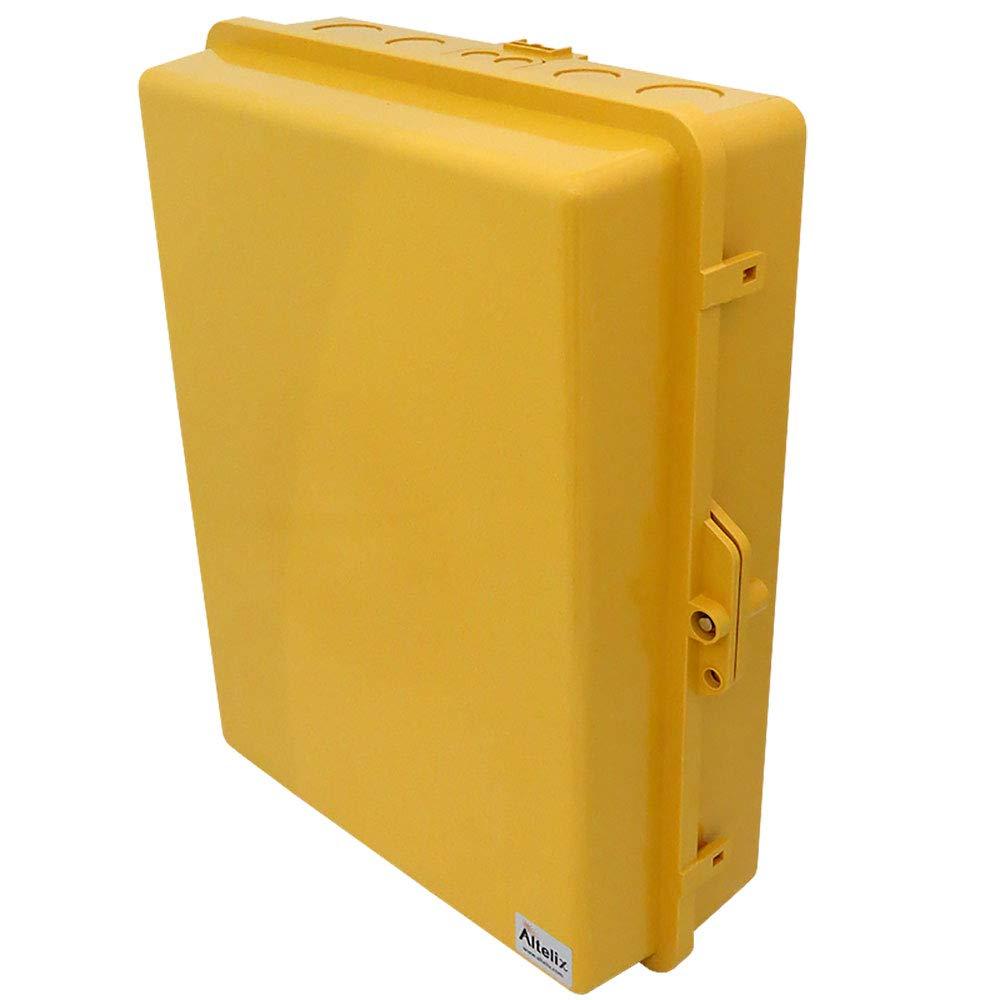 Altelix Yellow NEMA Enclosure (14'' x 9'' x 4.5'' Inside Space) Polycarbonate + ABS Tamper Resistant Weatherproof Rainproof