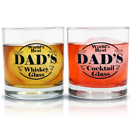Personalised Engraved Whiskey Tumbler Glass Fathers Day Gift  Best Dad No1 Dad