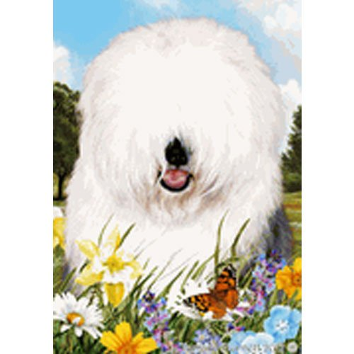 Best of Breed Summer Flowers Garden Flag – Old English Sheepdog Review