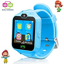 Kid Smartwatches game watches for kids children calling watch with camera with SIM card Kids Educational Toys Boys Girls gift.(Blue)