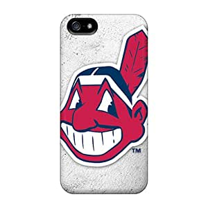 SherriFakhry Iphone 5/5s Scratch Protection Phone Cases Allow Personal Design Lifelike Cleveland Indians Pictures [VRn12436Gbnu]
