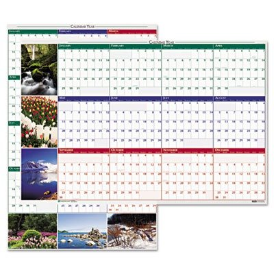 House of Doolittle Earthscapes Scenic Laminated Write-On/Wipe-Off Wall Planner January 2013 to December 2013 32 x 48 Inches, Nature Photo (HOD3931) (Earthscapes Laminated Planner)