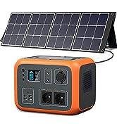 PowerOak 500Wh AC50S Powerstation mit Solarpanel Faltbar 120w, Solar Generator & Mobile Stromvers...