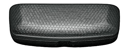 Hard Eyeglass Case, Glasses Holder For Women, Men, Girls, Boys- Honeycomb, Black