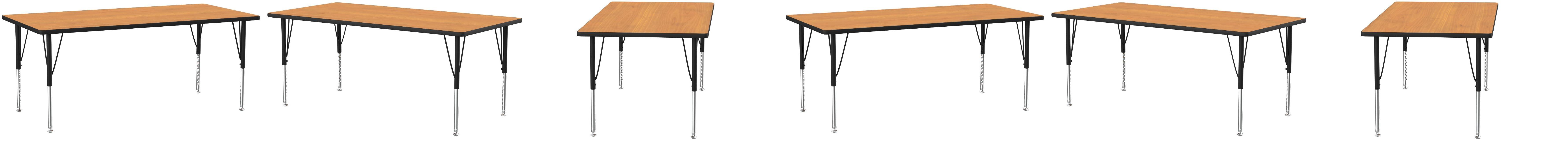 Amazon Com Flash Furniture 24 W X 48 L Rectangular Oak Thermal Laminate Activity Table Height Adjustable Short Legs Furniture Decor
