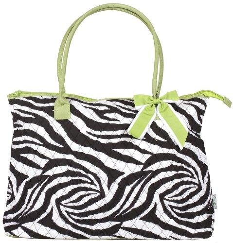 Zebra Print Bucket Bag (Ever Moda Zebra Quilted Tote Bag)