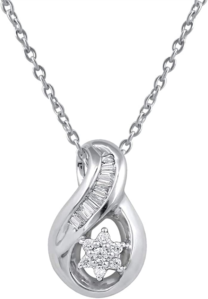 Necklaces Pendant for Girls in Silver and Copper Studded with CZ Diamonds Pendants for Women by Pipa Bella