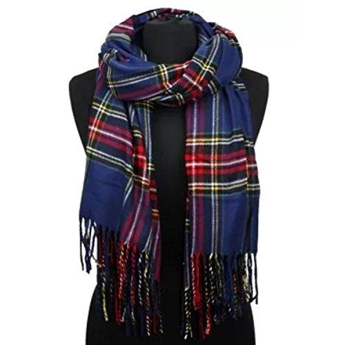APPARELISM Women's Winter Scottish Clan Plaid Oversized Cashmere Feel Blanket Scarf Wrap Shawl.(Plaid (Scottish Outfit)