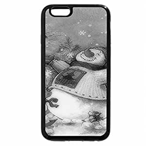 iPhone 6S Plus Case, iPhone 6 Plus Case (Black & White) - Winter Bliss