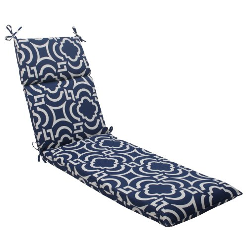(Pillow Perfect Indoor/Outdoor Carmody Chaise Lounge Cushion, Navy)