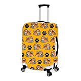 Luggage Cover Cute Shiba Inu Glasses Dog Protective Cover Protector with Zipper Closure Anti-Scratch Dustproof for 18/20/22/24/26/28 Inch