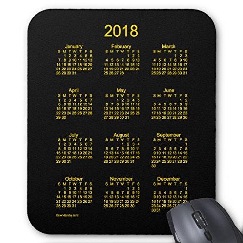 Zazzle 2018 Neon Gold Calendar By Janz Mouse Pad -