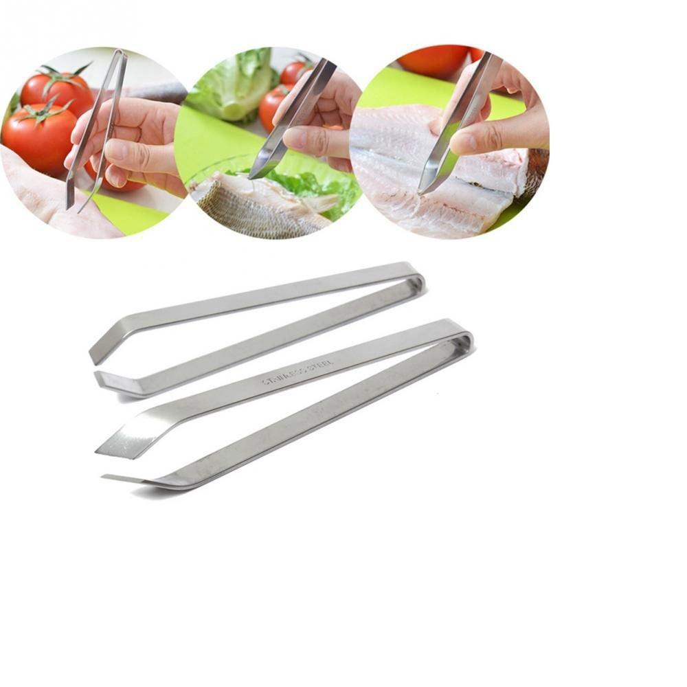 MAXGOODS 12cm Stainless Steel Fish Bone Tweezers,2-Pack