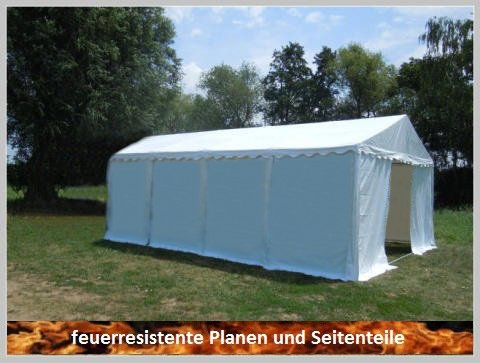 Pavillon Pavillion Festzelt Partyzelt Giant Pro PVC FR 5x8m 8x5m 5x8 8x5 Ohne Fenster