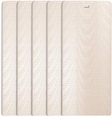 DALIX Sheer Ivory Vertical Blind Texture Slats Sliding Door 98.5 Qty 5 Pack