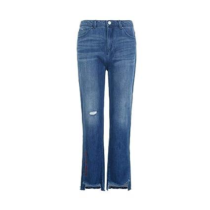 FSDFASS Jeans Nuevos 2019 Jeans para Mujeres Cortes en la ...