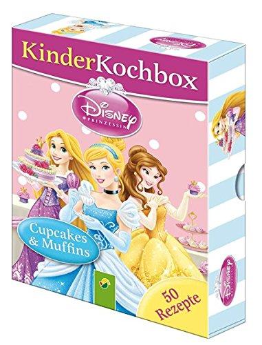 Disney Kinderkochbox - Prinzessinnen: Cupcakes & Muffins - Box mit 50 Rezeptkarten