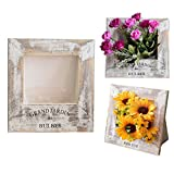 YINO 3D Wooden Photo Frame Flowerpot, Potted Plants Pot, Planter Pot Office Home Decor, The House for Protect Greenery Bloom (White)
