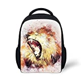 Preschool Backpack, Little Kid Backpacks for Boys and Girls Lion Fury Howling
