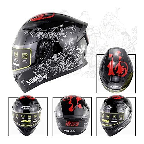 Warooms Motocross Full Face Helm Adult Highway Riding Helmets Off Road Motorbike Crash Helmet ECE/DOT Certified, for ATV/MX/BMX/Enduro/MTB,XL