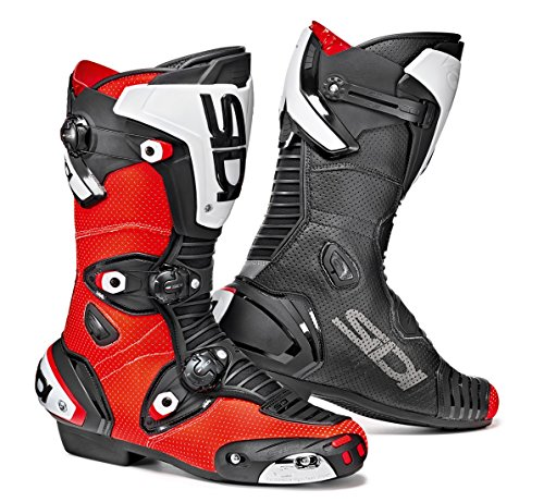 Sidi Mag-1 Air Motorcycle Boots Black/Red Flo US11/EU45 (More Size Options)