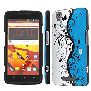 NakedShield ZTE Boost MAX N9520 (Blue Swirl) Total Hard Armor Art Phone Case