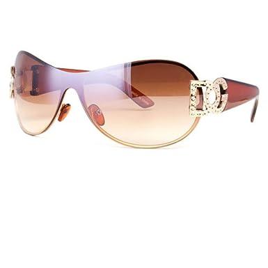 6a310061a776a Amazon.com  NWT DG Eyewear Womens Mens Shield Designer Sunglasses Shades  Fashion Retro Wrap  Clothing