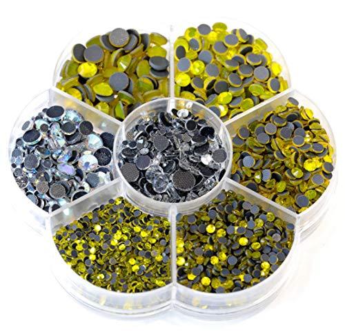 (BLINGINBOX Hotfix Rhinestone 28 Colors to Choose 3000pcs Mixed Sizes(ss6-ss30) Citrine DMC Hot Fix Glass Rhinestone)