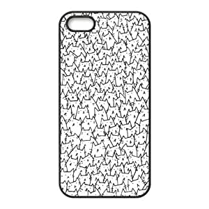 iPhone 5S Protective Case - Because Cats Hardshell Carrying Case Cover for iPhone 5 / 5S by icecream design