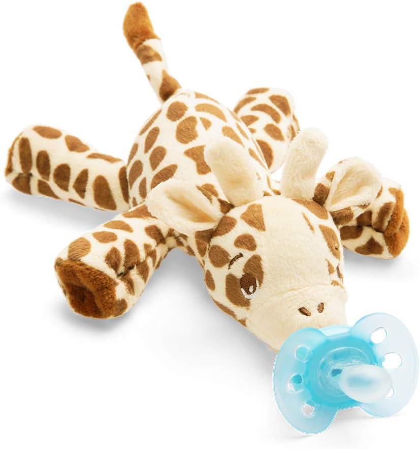 Philips Avent Peluche con chupete - Peluche de jirafa con chupete ultra soft, sin BPA, 0-6 meses