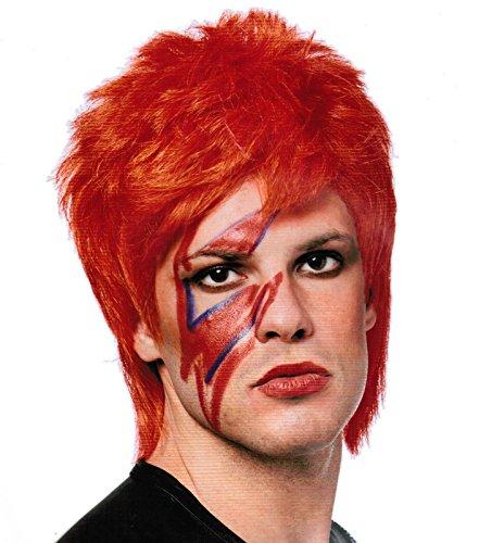 Men's Glam Rocker Wig Neon Orange (Neon (Jedi Costume Comic Con)