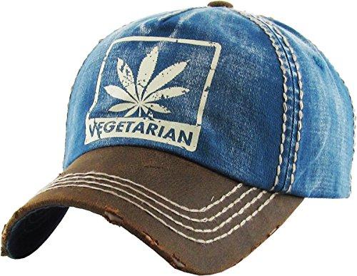 57e95037889 KBVT-669 BLU Marijuana Leaf Collection Dad Hat Baseball Cap