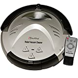 iTouchless Updated Robotic Vacuum Strong Suction, Pet Fur Cleaner-Long Lasting Battery-3 Modes-Cleans Carpets, Hardwood, Tile, Linoleum Floors-Avoids Stairs and Furniture, Silver