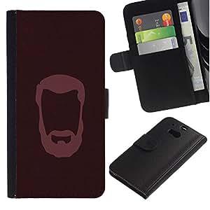 OREGON-X ( No Para HTC ONE Mini 2) Foto Ranura Tarjeta Cuero Ranura Tarjeta Voltear Duro Funda TPU Carcasas Para Smartphone HTC One M8 caballero barbudo
