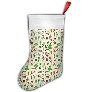 Christmas Socks Stylish Santa Stocking Xmas Ornament Green Christmas