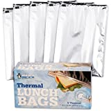 Insulated Resealable Sandwich Bag / Reusable Thermal Lunch Snack Bento Picnic Pouch, 5 Count (Sandwich (5 Count))