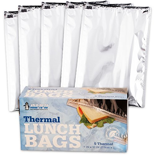 (Insulated Resealable Sandwich Bag / Reusable Thermal Lunch Snack Bento Picnic Pouch, 5 Count (Sandwich (5 Count)))