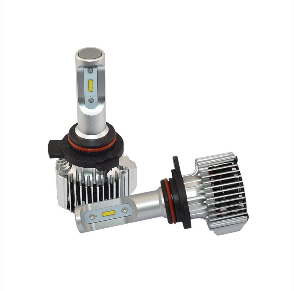 ANFTOP 2X 9012 HIR2 LED Auto Faro Bombilla Kit de Luces Conversión para Faros LED coche delantero 72W 8000LM 6000K Blanco Super Brillante Bombillas para ...