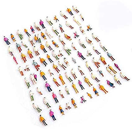 Toys & Hobbies Model Building Kits 1 Set Of 100 Model Train People Figure Passengers 1:150 Ho Scale Toys Free Shipping Soft And Light