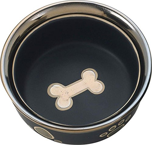 Image of Ethical Pet Products (Spot) CSO6883 Ritz Copper Rim Cat Dish, 5-Inch, Black