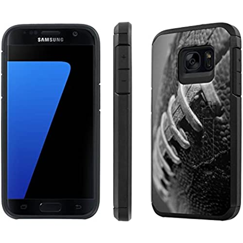 Galaxy [S7] [5.1 Screen] Defender Hybrid Case [SlickCandy] [Black/Black] Dual Layer Protection [Kick Stand] [Shock Proof] Phone Case - [FootBall] for Samsung Sales