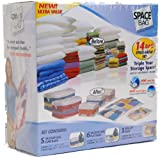 Space Bag 14 Bag Space Saver Set (Clear)