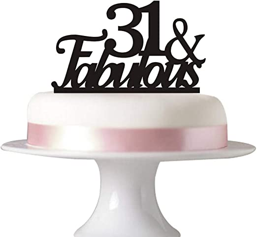 Pleasant Amazon Com 31 Fabulous Cake Topper For 31St Birthday Party Funny Birthday Cards Online Barepcheapnameinfo