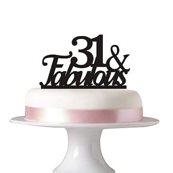 Amazon 31 Fabulous Cake Topper For 31st Birthday Party