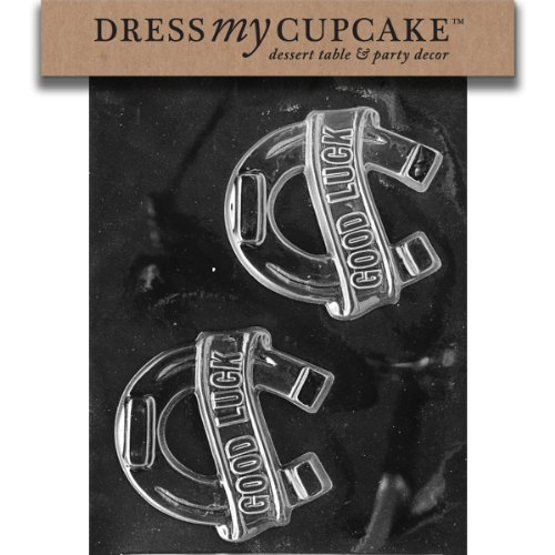 Dress My Cupcake DMCM097 Chocolate Candy Mold, Good Luck Horseshoe