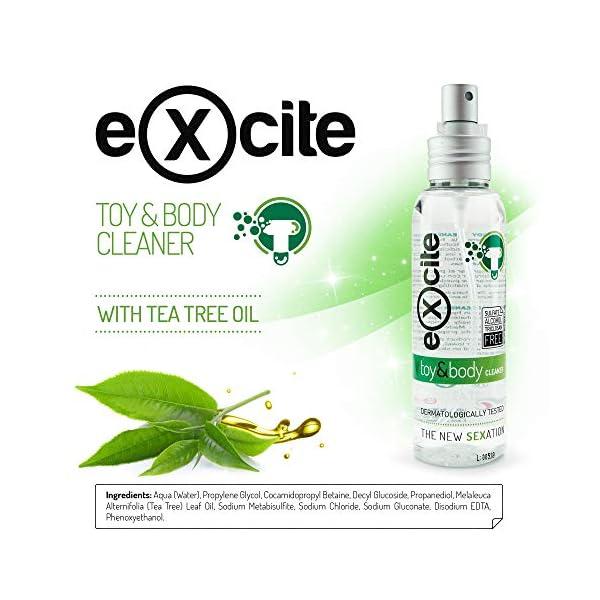 EXCITE Limpiador desinfectante de accesorios íntimos y copa menstrual. Antibacteriano y antiséptico con Aceite de Árbol… 4