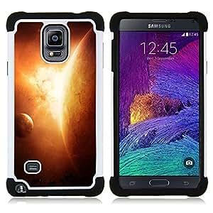 """Pulsar ( Apocalypse Sun Planet Solar System Arte Tierra"""" ) Samsung Galaxy Note 4 IV / SM-N910 SM-N910 híbrida Heavy Duty Impact pesado deber de protección a los choques caso Carcasa de parachoques"""