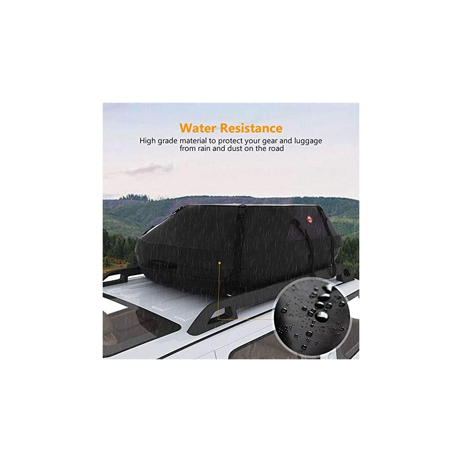 Kemanner Car Rooftop Cargo Carrier Waterproof Roof Top Cargo Bag for Car Truck SUV and Vans